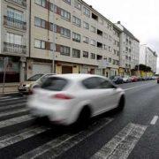 El accidente ocurrió en la carretera de Castilla a la altura del número 174, en el tramo de Narón . César toimil