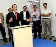 En la foto, responsables de la organización, autoridades y patrocinadores, durante la presentación