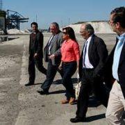 En la fotografía, la representante del Gobierno de Panamá flanqueada por Laxe y Del Real
