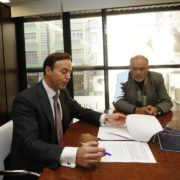 El abogado Ricardo Pérez Lama y Manuel Bouza. Daniel Alexandre
