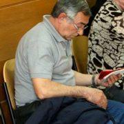 Tomás Esteban, el día de la celebración del juicio, el pasado abril